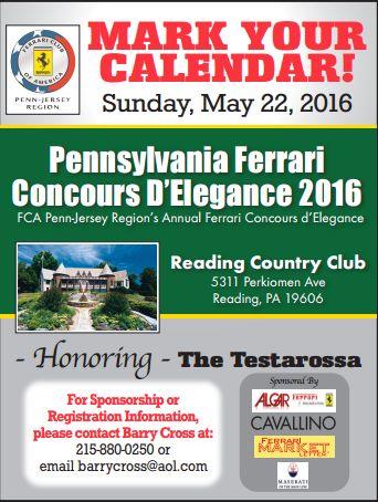 2016 Penn-Jersey Region's Annual Ferrari Concours d'Elegance