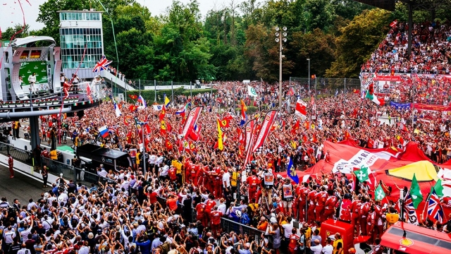 Ferrari on the podium Monza 2016